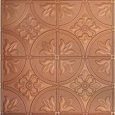 plastic copper ceiling tiles ceilings the home depot throughout