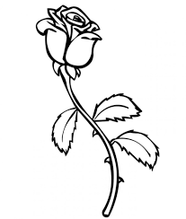Download Coloring Pages Rose Free Printable Roses For Kids