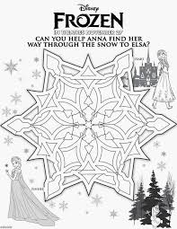 Disney Frozen Activity Sheets Including This Awesome Snowflake Maze