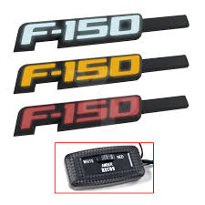 100 Ford Truck Emblems 20092014 F150 Light Up Black Fender Red White Or