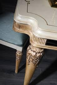 casa padrino luxus barock esszimmer set türkis weiß gold 1 esstisch und 4 esszimmerstühle barock esszimmermöbel