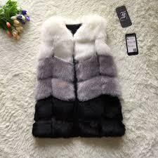 online get cheap faux fur vests for women aliexpress com