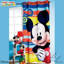 mickey mouse disney bedroom decoration room curtain blue cover