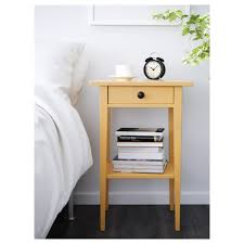 HEMNES Bedside table Yellow 46x35 cm IKEA