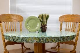 Rectangle Patio Tablecloth With Umbrella Hole by Rectangle Oval Fitted Tablecloth Wipeable U0026 Washable Bpa