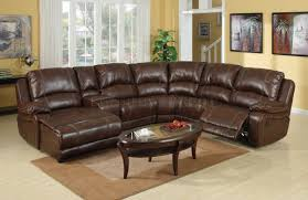 Bernhardt Foster Leather Furniture by Dark Brown Leather Sectional Sofa With Recliner And Coffee Table