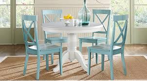 Brynwood White 5 Pc Round Dining Set