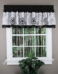 covina valance black white lush decor kitchen valances
