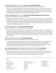 Resume Examples Vendor Management
