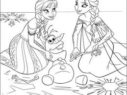 Impressive Disney Frozen Coloring Pages To Print Design Ideas
