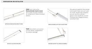 domus line led unterbauleuchte küche flow aluminium lichtleiste 230v