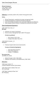 Game Design Resume Best Collection