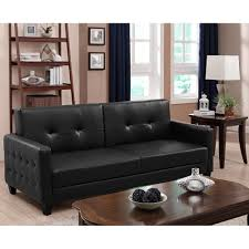 furniture walmart faux leather futon pull out couch walmart
