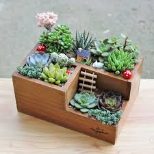 Garden Planter Home Storage Box Wooden Jewelry Holder Wonderful Gift Rustic Natural Succulent Plant Flower
