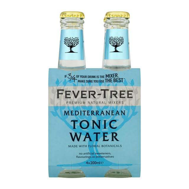 Fever-Tree Mediterranean Tonic Water - x4, 200ml