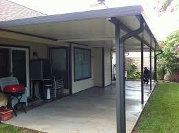 Pictured below is an 11′ x 36′ Aluminum patio cover with three fan