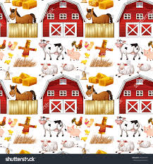 Seamless Farm Animals Red Barn Illustration Stock Vector 359478710 ... Red Barn Clip Art At Clipart Library Vector Clip Art Online Farm Hawaii Dermatology Clipart Best Chinacps Top 75 Free Image 227501 Illustration By Visekart Avenue Of A Wooden With Hay Bnp Design Studio 1696 Fall Festival Apple Digital Tractor Library Simple Doors Cartoon For You Royalty Cliparts Vectors