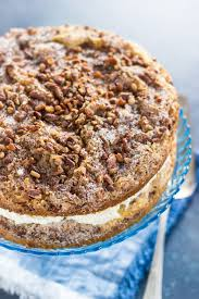 Layered Cinnamon Streusel Coffee Cake with Cream Cheese Filling