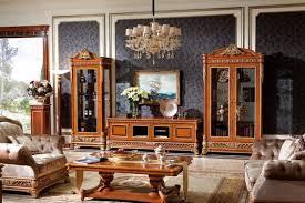 wohnzimmer schrank barock rokoko sideboard 2x vitrinen sideboard lowboard antik