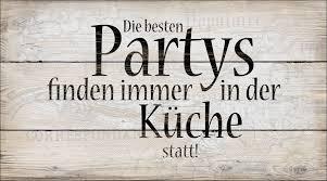 bild decopanel die besten partys finden immer in der küche statt 15x30cm
