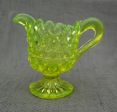 Stunning Victorian Henry GREENER Acid Yellow URANIUM Pressed Glass