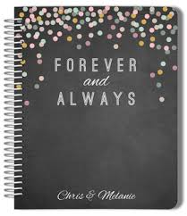 Chalkboard Confetti Forever And Always Wedding Planner