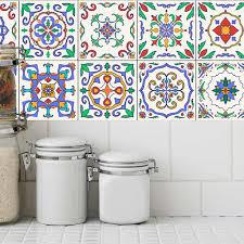 20 stück mosaik wandfliesen aufkleber küche bad wasserdicht abziehbilder 5 15x15cm fliesenaufkleber 复古 复古