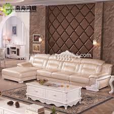 luxus europäischen französisch stil wohnzimmer salon möbel ich form leder holz ecke schnitts sofa set buy französisch l form sofa luxus europäischen