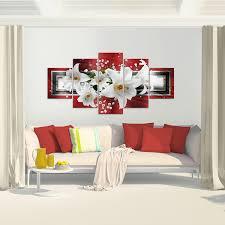 bilder blumen lilien wandbild vlies made in germany leinwand