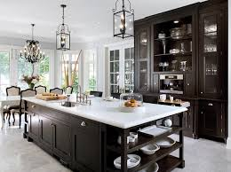 Over At Decorpad There Are Many Beautiful Kitchens And Here Is Just An Example How Elegant A Black White Kitchen Can Be The Island Focal Point