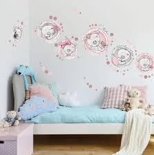 wandtattoo teddybären für mädchenzimmer mit eigenem namen
