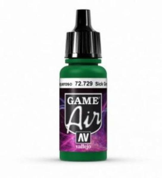 Vallejo Game Air Paint - 72729 Sick Green, 17ml