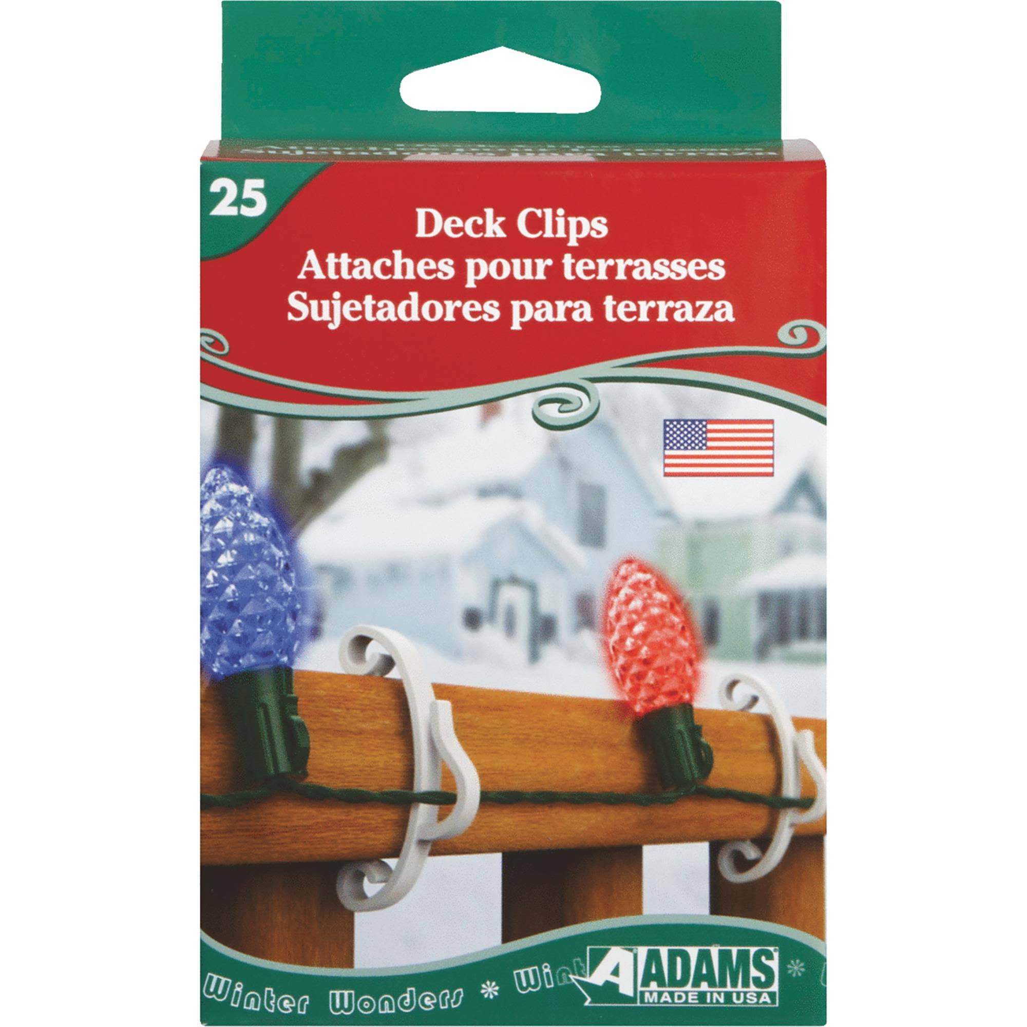 Adams Deck Light Clips - x25