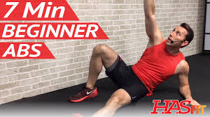 7 Min Beginner Ab Workout for Women & Men Abs Workout for