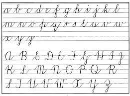 All Letters In Cursive All Cursive Letters Cursive Letters A Z