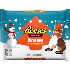 White Christmas Trees Walmart Canada by Reese U0027s Holiday Peanut Butter Trees Assortment 24 Oz Walmart Com