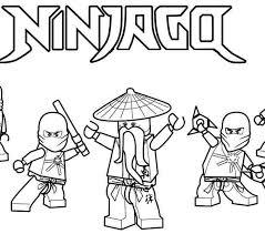 Ninjago Printable Coloring Pages Lego