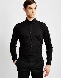THE IDLE MAN Mens Smart Shirt In Black
