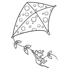 Kite Coloring Sheets Pages Of Kites