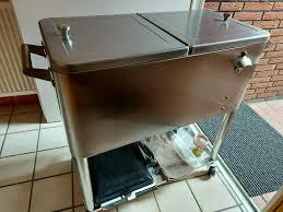 kühlbox getränkewagen in edelstahl für garten wohnung