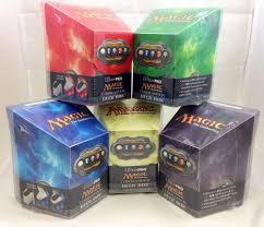 magic edh deck box set of 5 magic pro hex commander edh deck boxes black