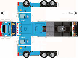 100 Trucks Paper Free Download Model TrailerHout DioramasModels