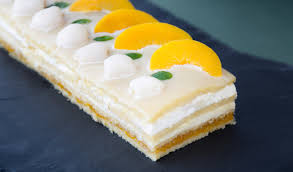 Peach and lychee opera cake — Yours