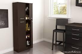 Sterilite 4 Shelf Cabinet by Amazon Com South Shore Axess 4 Shelf Pantry Storage Chocolate