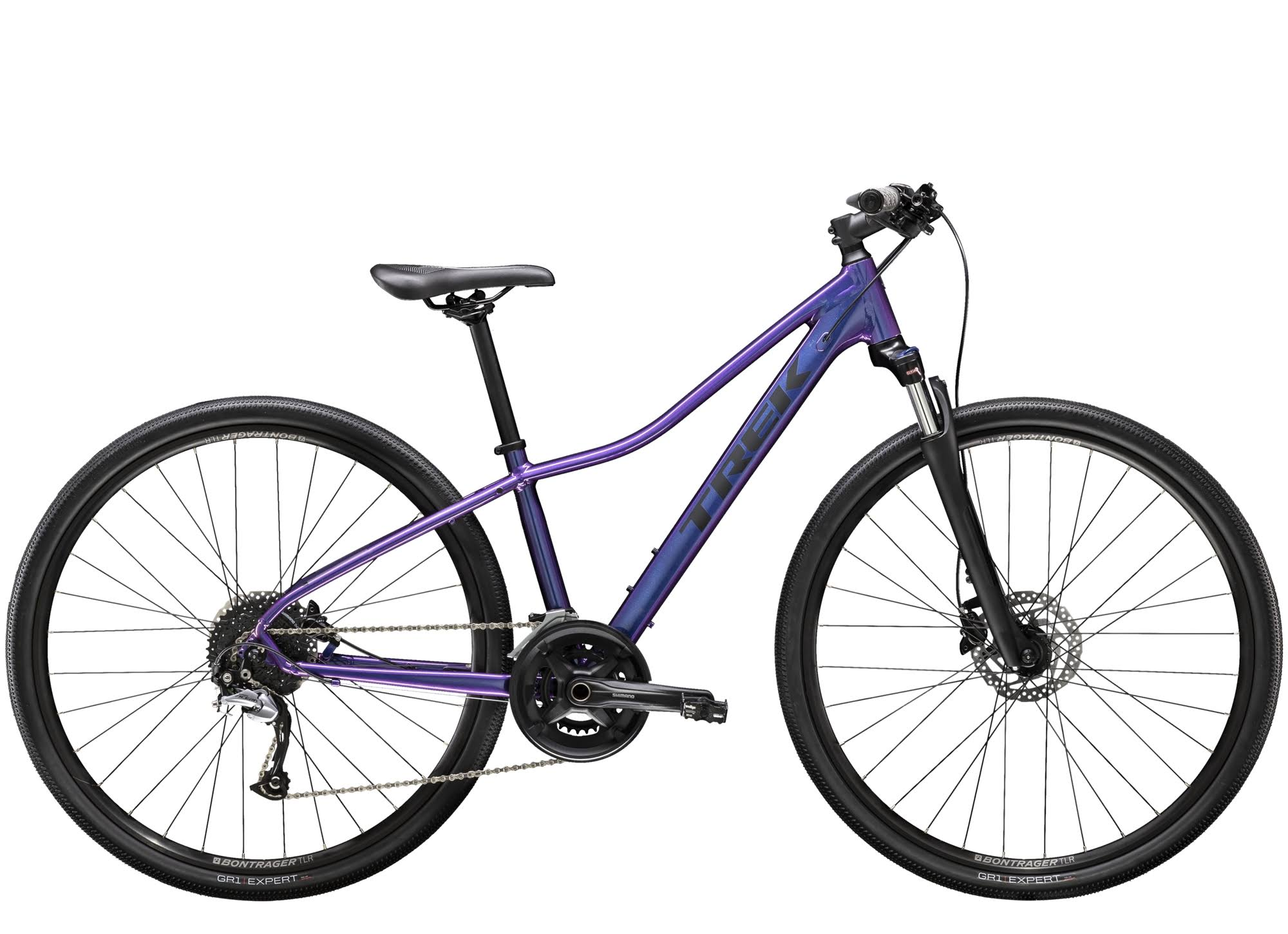 Trek Dual Sport 3 Women's Mountain Bike - Purple Flip