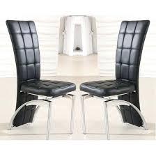 Black Faux Leather Dining Room Chairs Chair In A Pair Furniture