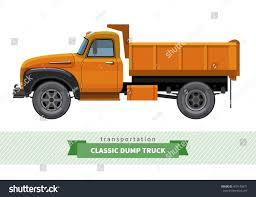 100 Side Dump Truck Classic View Er Stock Vector Royalty