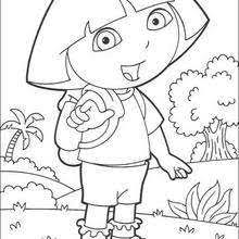 Dora The Explorer On Holiday Coloring Page