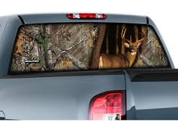 100 Pickup Truck Rear Window Graphics Camowraps Film Realtree Camo