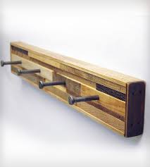 4 Hook Reclaimed Wood Coat Rack